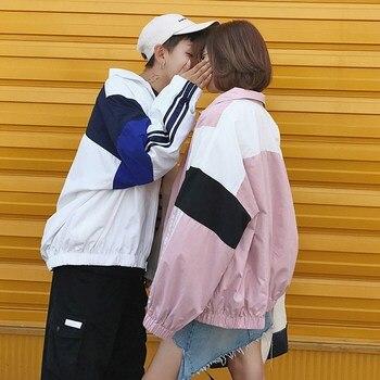 Harakuju BF loose summer sun protection coats windbreaker jacket harakuju bomber jackets womens autumn outwear for lovers