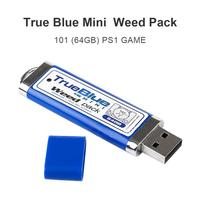 New Updated True Blue Mini USB Weed Pack 64 GB plug and play 100% compatible with game console 101 games for PlayStation Classic