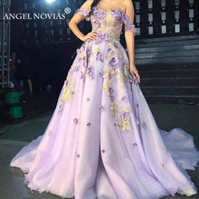 Angel Novias Long Light Purple Evening Dress 2019