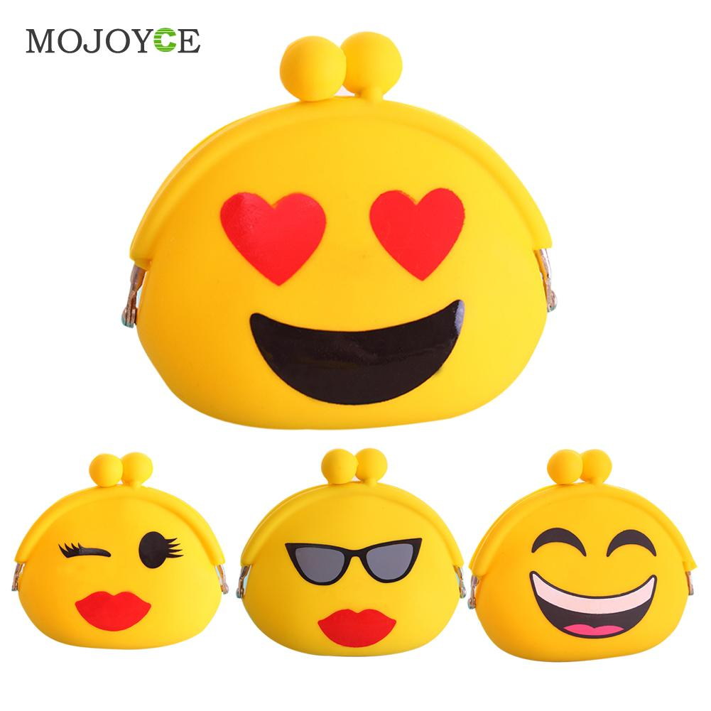 Fashion Smiling Faces Design Women Coin Purse Cartoon Silicone Coin Key Wallet Purse for Coins bolsa feminina carteira feminino
