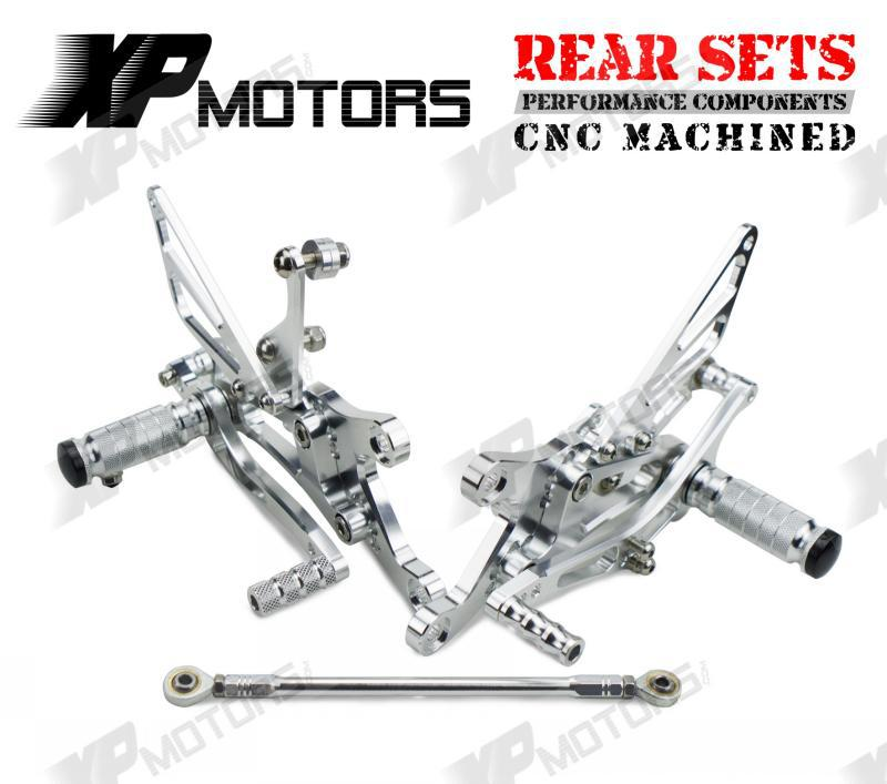 New Arrived Silver  Racing Foot pegs Adjustable Rearset Rear Sets For Yamaha YZF R1 1998 1999 2000 2001 2002 2003