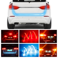 OKEEN Double Colours Truck Led Tail Light Strip Tailgate Turn Signal Backup Brake Stop Warning DRL