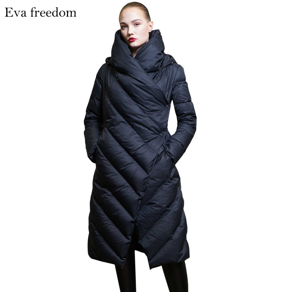 ece4444e4 High Quality 2019 Winter New Collection Women Hooded Long Down Coat Female  Winter Warm Thick Down Jacket
