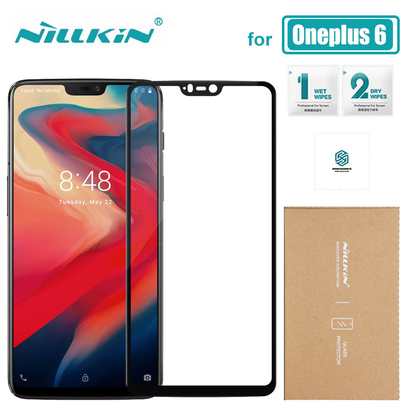 For Oneplus 6 Glass Nillkin CP+ Full Cover Tempered Glass One Plus 6 Screen Protector 9H Hard Anti-Scratch For Oneplus 6 Glass