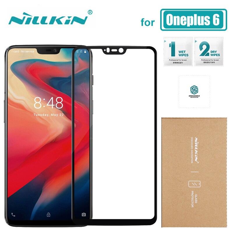 Oneplus 6 Vidro Nilkin CP + Cobertura Completa One Plus 6 Protetor De Tela de Vidro Temperado 9 H Duro Anti-zero Oneplus6 Nillkin Vidro