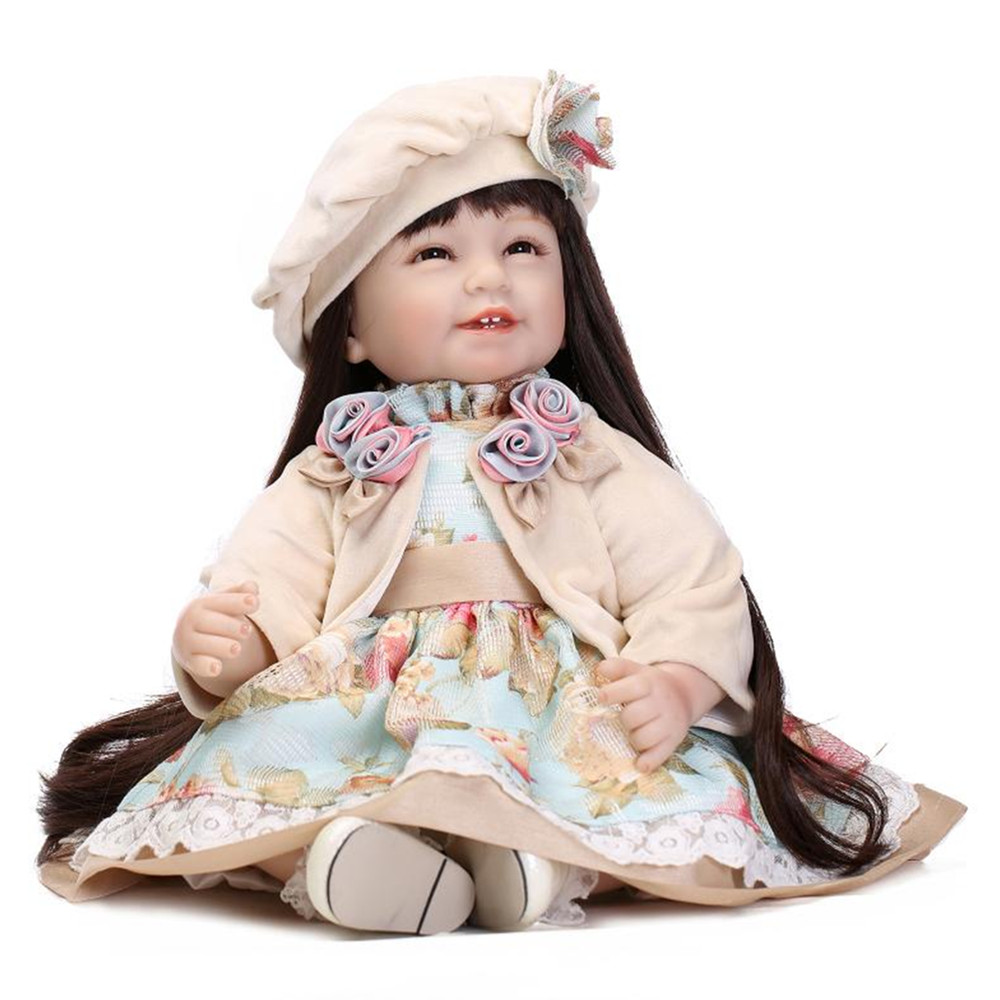 цена European Style Lifelike Baby Doll Princess Doll with Clothes and Hat,Cute 50 CM Fashion Girls Doll Toy for Girls Children's Gift