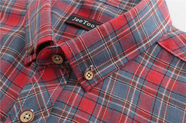 Dioufond Men Vintage Red Plaid Short Shirts Casual Cotton Basic Male Tops Pocket Work Wear Summer Mens Fashion Clothing 2018 3XL 3