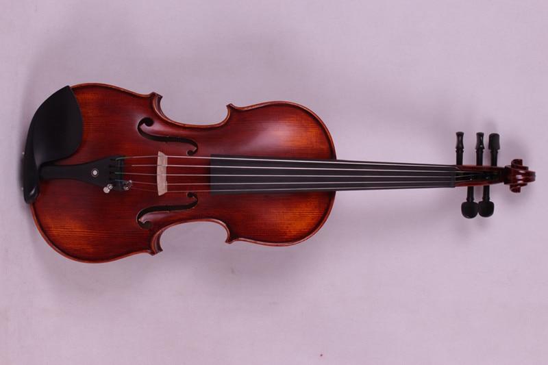 5 string 4/4 Violin Ebony parts Flame Maple Back Antique Varnish Spruce Master Powerful Sound Pro+503# 2 pcs new 4 4 unfinished violin flame maple back russian spruce top
