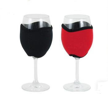 100pcs DHL Neoprene Red Wine Glass Holder Cooler Champagne Sleeve Summer Festival Party Club Promotional Gifts