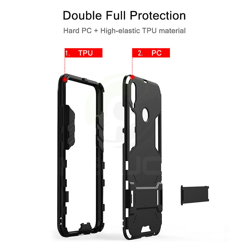 case For Huawei Honor 8X Case Shockproof TPU PC Hard Plastic with Stand Dual Hybrid Back Cover For Huawei Honor 8X Max Cover in Fitted Cases from Cellphones Telecommunications