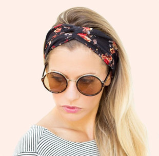 Women Bohemian Turban Twist Knot Head Wrap Floral Headband Twisted Knotted  Hair Band Cotton Turban Headband 1PC 6a10d1f5a96
