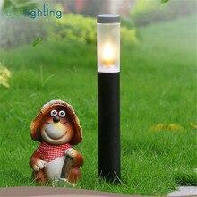 Современные длинные лампы для газонов из нержавеющей стали L45cm L60cm, Черный Уличный садовый светильник, водонепроницаемый светодиодный ландшафтный светильник