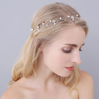 Bridal Head Headbands Women S Hair Accessories Ladies Gold Crystal Hairbands Flower Wedding Dress Accessory O0943