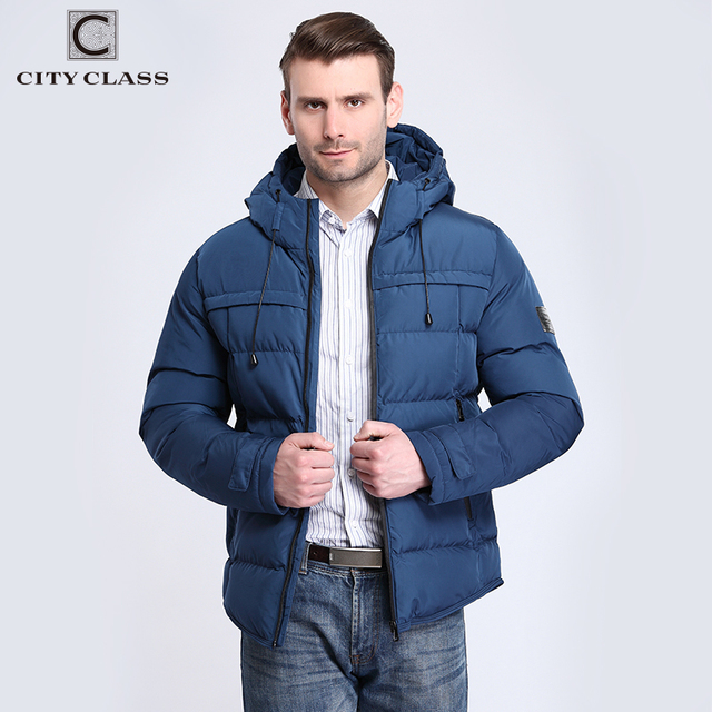 City Class 2018 New Winter Jacket Thick Warm Men's Overcoat Casual Fashion Cotton-padded Pilot Parkas Hooded Male Outerwear 2688