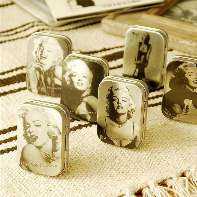 6pcslot Vintage classical Marilyn Monroe peninsula tin box