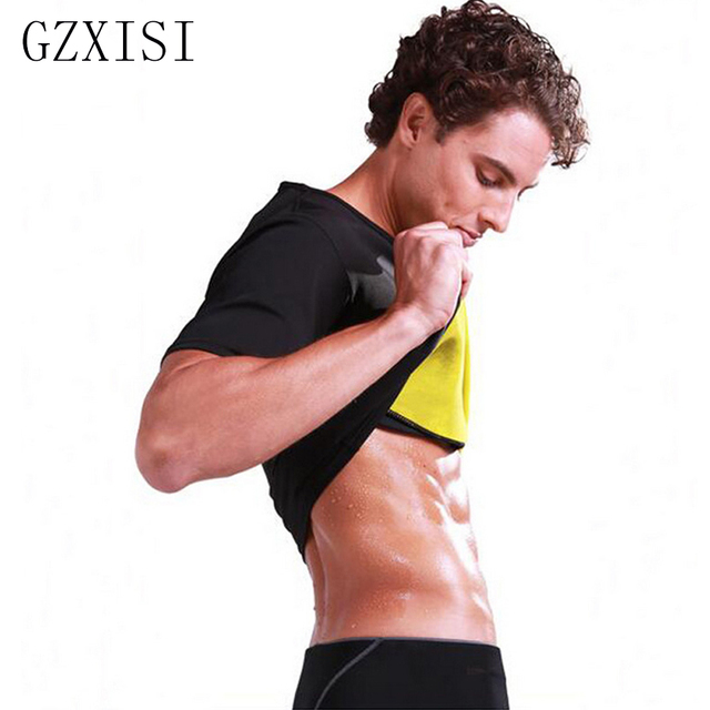 cf0579c213451 New Hot Shapers Men Compression Slimming Shirt Neoprene Waist Trainer Tops  Slimming Corset Body Shaper Super Stretch Shapewear