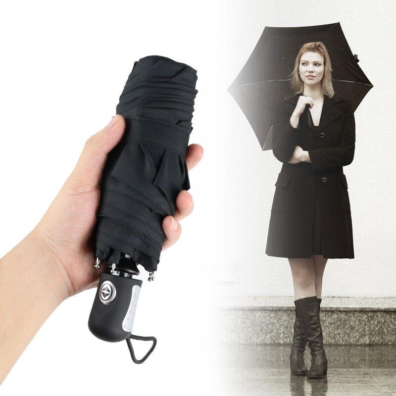 Mini Poche Automatique 5 fois Facile à Transporter 240g Parapluie Pluie/Soleil Femmes Creative Parapluie Hommes Enfants Voyage cadeaux Petit Parapluies