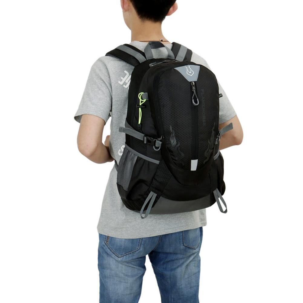 पुरुषों के लिए नायलॉन वॉटरप्रूफ स्पोर्ट्स बैग बैकपैकिंग पर्वतारोहण पर्वतारोहण पर्वतारोहण कैम्पिंग बैकपैक्स रूकसाक