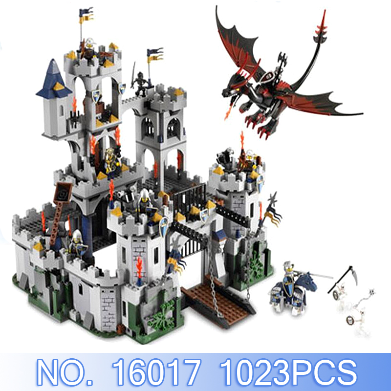 Lepin Movie Figures 16017 Castle Legoed 1023Pcs Castle King's Siege Building Blocks Bricks Set Toys Model Kits Compatible 7094 movie series king castle battle siege set model building block bricks toys compatible legoings city castle 7094