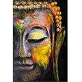 Artista de alta calidad hecho a mano figura abstracta de Buda cuadros hecho a mano Buda arte pintura para sala de estar