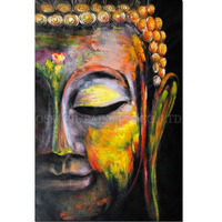 High Skills Artist Handmade High Quality Abstract Figure of Buddha Pictures Handmade Buddha Art Painting for Living Room