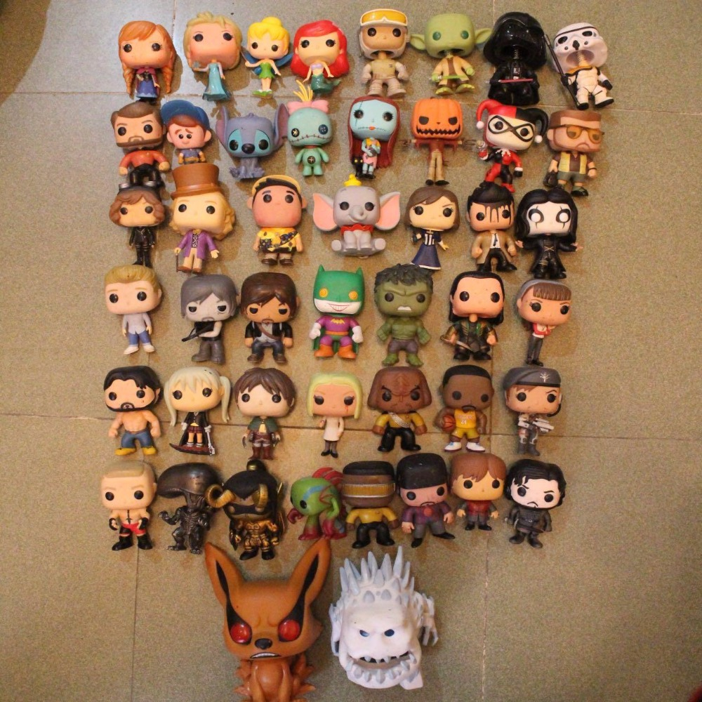 Imperfect Funko POP TV: Batman, The Hulk, Stitch, Star wars, Waking dead, The Nightmare Before Christmas Loose Figure Toy No box imperfect funko pop second hand tv series the walking dead michonne pet walker 2 zombie figure decorative model toy cheap no box