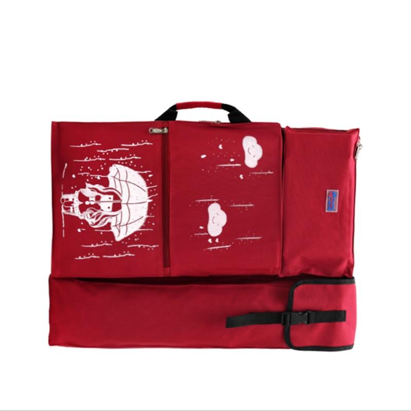 все цены на YMJZ 4k Red/Black/Dark Blue/Sky Blue Portable Painting Board Bag Carry Case Drawing Waterproof Board Carrying Sketchpad Bag