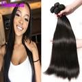 Peruvian Virgin Hair Straight 4 Bundles Peruvian Human Hair Extensions Peruvian Straight Hair 4 Bundles Straight Natural Black