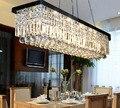 Retângulo Chuva Gota Candelabro de Cristal para Sala De Jantar moderna Contemporânea de Suspensão Da Lâmpada Luminária