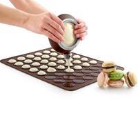 Saingace 6 stks/set Siliconen Bitterkoekje Gebak Oven Bakvorm Mat Piping Pot Nozzles DIY Mold 48 Holte Gelukkig Koop ap601