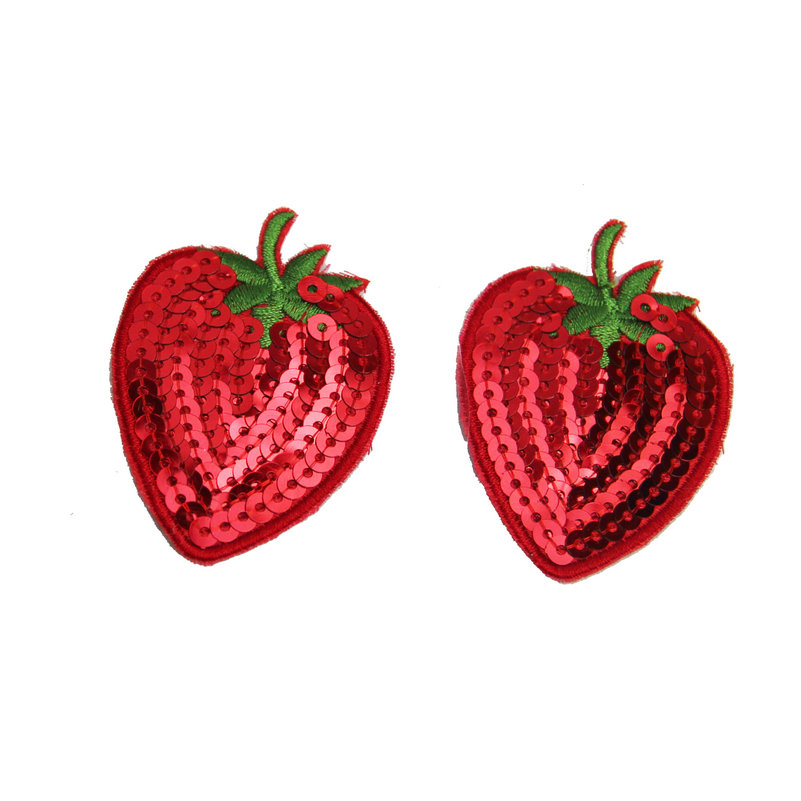 Red Strawberry Nipple Stickers Body Breasts Pads Women's Girl's Adhesive Nipple Covers Disposable Unbra Sexy Girl Lover Game