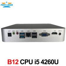 Причастником B12 Окна 10 VGA Core i3 i5 мини настольных ПК компьютер с вентилятором i3 5005u i5 4260u 300 м WI-FI