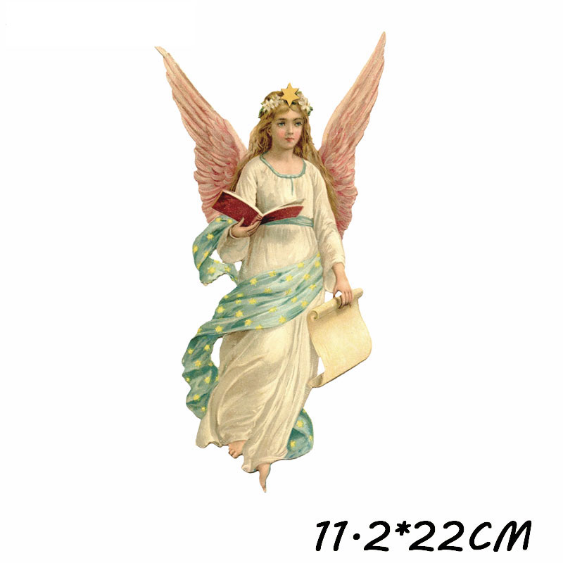 Iron on Patches Cute Cartoon Angel Wings Christ Jesus Heat Transfer Stickers Clothes Decor Applique Stranger Things Diy T shirt in Patches from Home Garden
