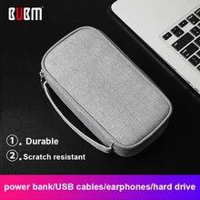 BUBM портативный внешний аккумулятор для путешествий, чехол для жесткого диска, внешний аккумулятор 10000 мАч, зарядное устройство, USB кабель