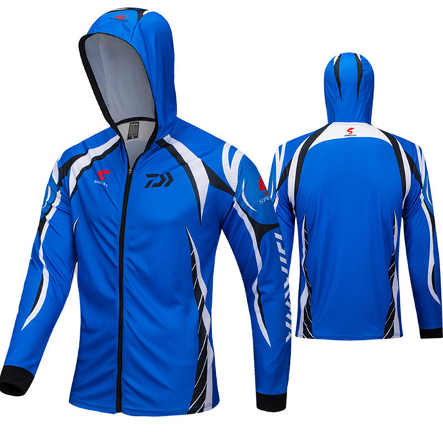 2018 Summer Sports Outdoor Speed Dry Sun Fishing clothing Breathable Perspiration Anti-mosquito Slim Fishing clothing