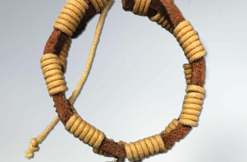 men leather bracelet DIY custom jewelry