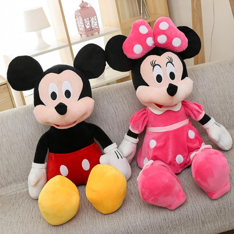 2019 Hot Sale 40-100cm High Quality Stuffed Mickey&Minnie Mouse Plush Toy Dolls Birthday Wedding Gifts For Kids Baby Children