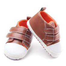 New Fashion Baby First Walkers Shoes PU Leather Baby Boy Girl Infant Toddler Shoes Anti slip