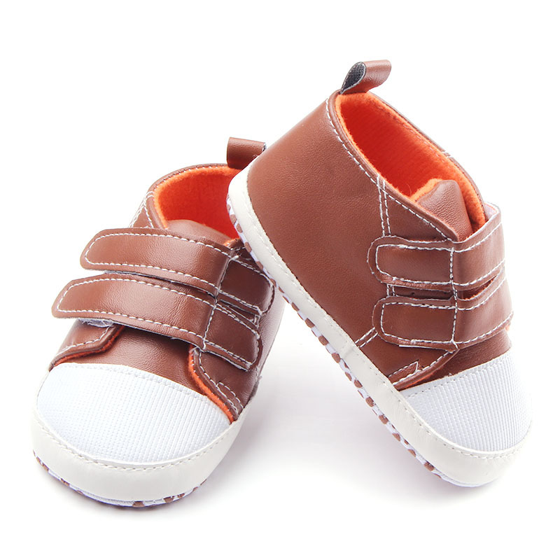 New Fashion Baby First Walkers font b Shoes b font PU Leather Baby Boy Girl Infant