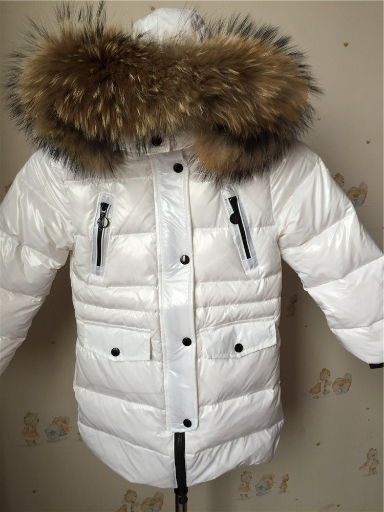 Brand New Children Cold Winter down Girls Thickening Warm Down Jackets Boys long Big Fur Hooded Outerwear Coats Kids Down Jacket 2016 gold led shoes women