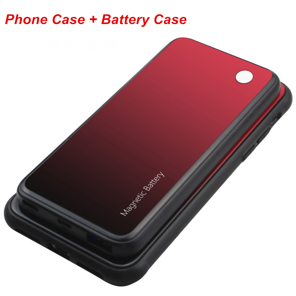5000 Mah For Iphone X XS XR XS Max Battery Charger Case Phone Case Smart Wireless Charging
