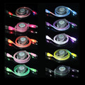 500pcs/lot* Retractable LED Light Micro USB Charger Data Sync Cable for Samsung Galaxy S4 S5