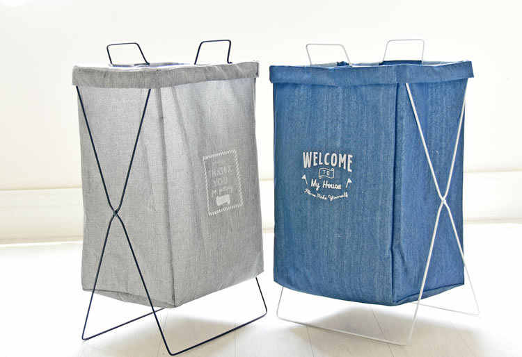 Large Laundry Basket Waterproof Storage For Bathroom Home Organizer Bags Dirty Clothes