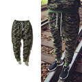 2016 Military wind camouflage new men's jeans trousers pants jungle camouflage foot pants compression knitted pants men