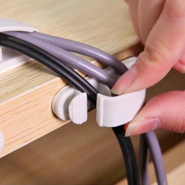 Electrical Wire Rack | 10 Cable Cord Wire Line Organizer Adhesive Household Cable Holders
