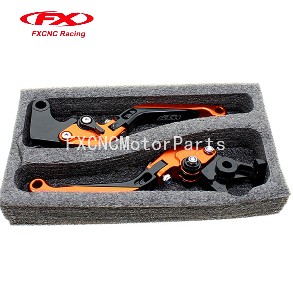 For KTM 990 SMR 990 SMT 2009 - 2013 CNC Motorcycle Folding Extendable Brake Clutch Levers Orange & Black With Package for ktm 990 950 640 adventure motorcycle accessories adjustable folding extendable brake clutch levers