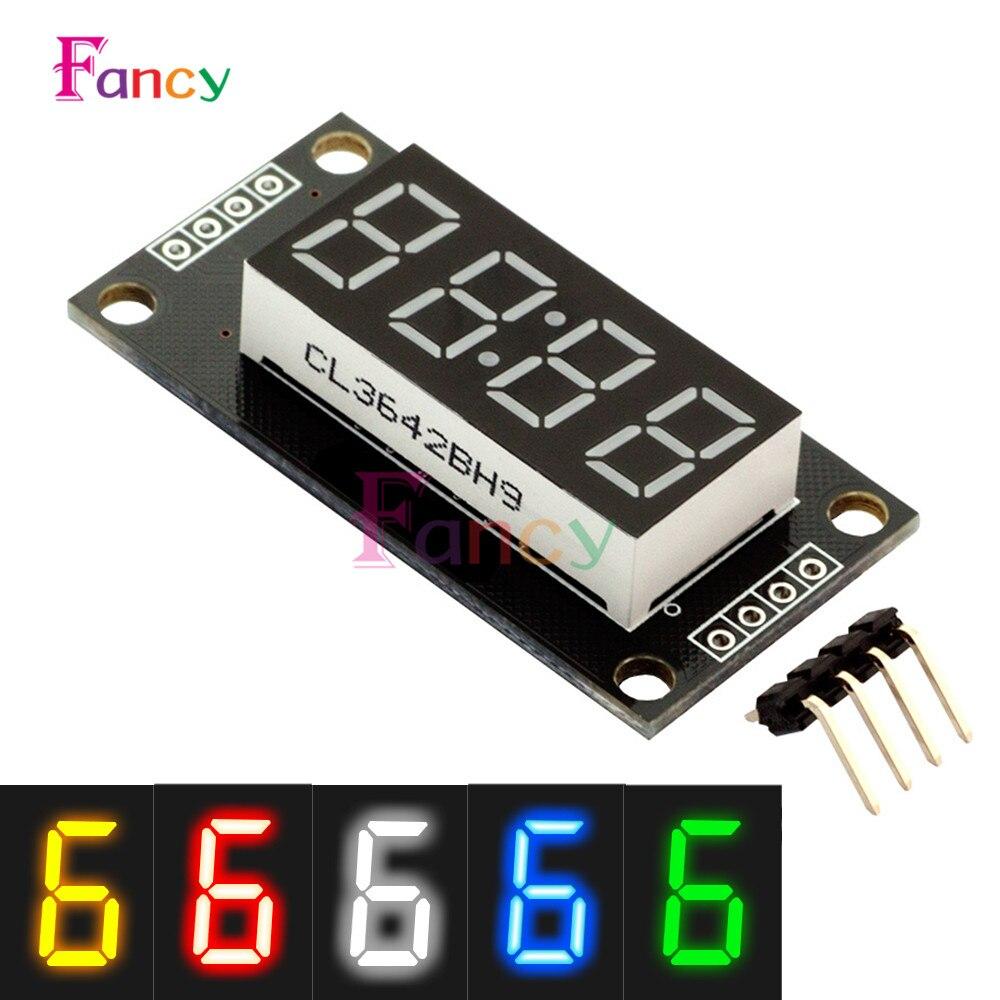 4-разрядный светодиодный 0.56 7 сегментов Дисплей трубки tm1637 часы с двойным точек модуль размер 30x14 мм 0.56 дюйма для Arduino 5 цветов