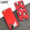 Perros de bolsillo lindo cajas del teléfono para iphone 6 caso para iphone 6 s 6 Plus 5 5S Contraportada Capa de Dibujos Animados de Color Rojo Perro Fundas Coque CALIENTE!