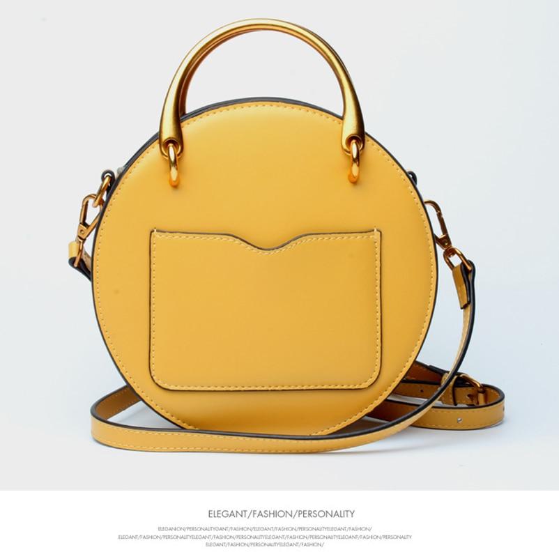 Nevenka Geniune Leather Shoulder Bag Female Round Bag Girls Circle Crossbody Bag for Women 201804