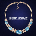 High Quality Oval Crystal Necklace Collier Made With Genuine Swarovski Elements Necklaces Girl Best Friends Gift